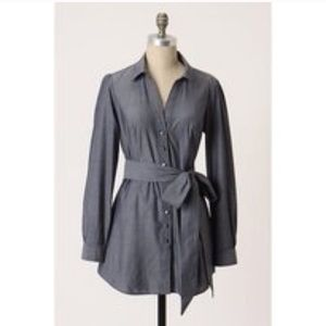 Anthropologie Odille Chambray Tunic Top